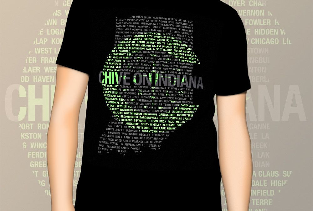 $15,293 was the amount raised for a charitable organization in Indiana, from the t-shirt sales with this customized Chive On Indiana design, provided by Zobolt. Zobolt created a customized t-shirt design for Chive On Indiana. The sales from the t-shirts were donated to the Sanctuary of Shelbyville, a charitable organization offering assistance to victims of domestic violence and abuse. We were thrilled be a part of their success!