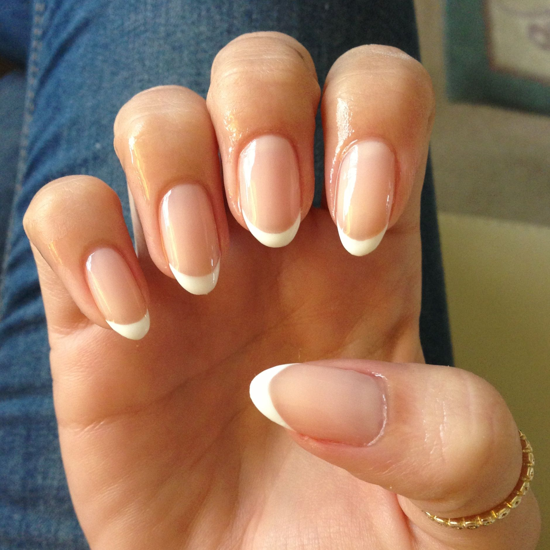 Clean And Pretty French Manicure Oval Acrylic Nails French Manicure Nails French Tip Nails