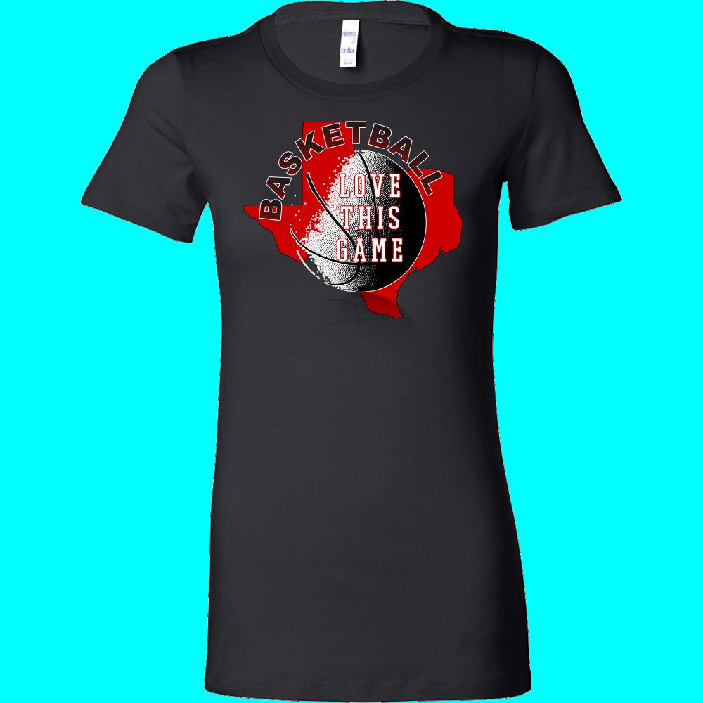 Texas Tech Basketball Love This Game Women's T-Shirt Slim Fit