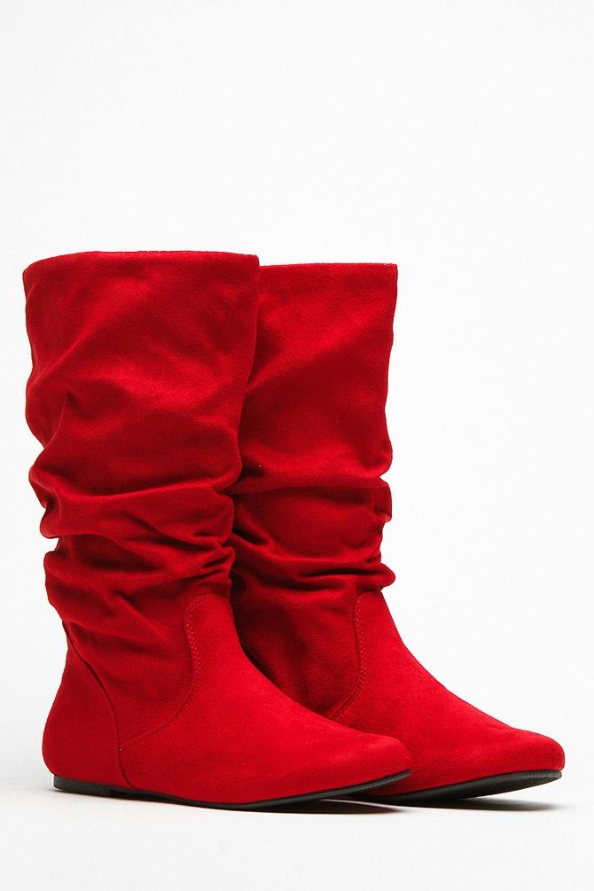 09042f9131185 Soda Red Slouchy Faux Suede Boots @ Cicihot Boots Catalog:women's winter  boots,leather thigh high boots,black platform knee high boots,over the knee  boots ...