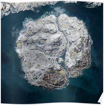 PUBG Vikendi / Snow Map 8192x8192 Poster | Products | Snow