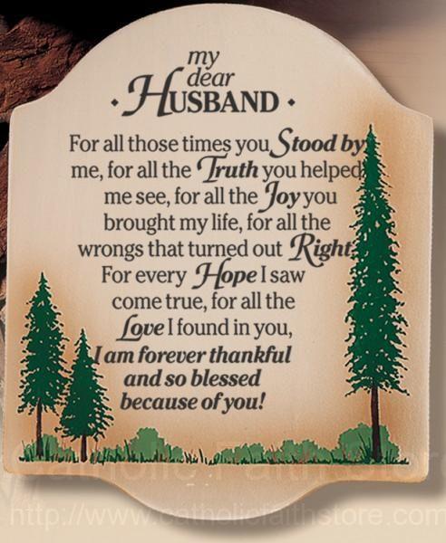 My Dear Husband Wall Plaque