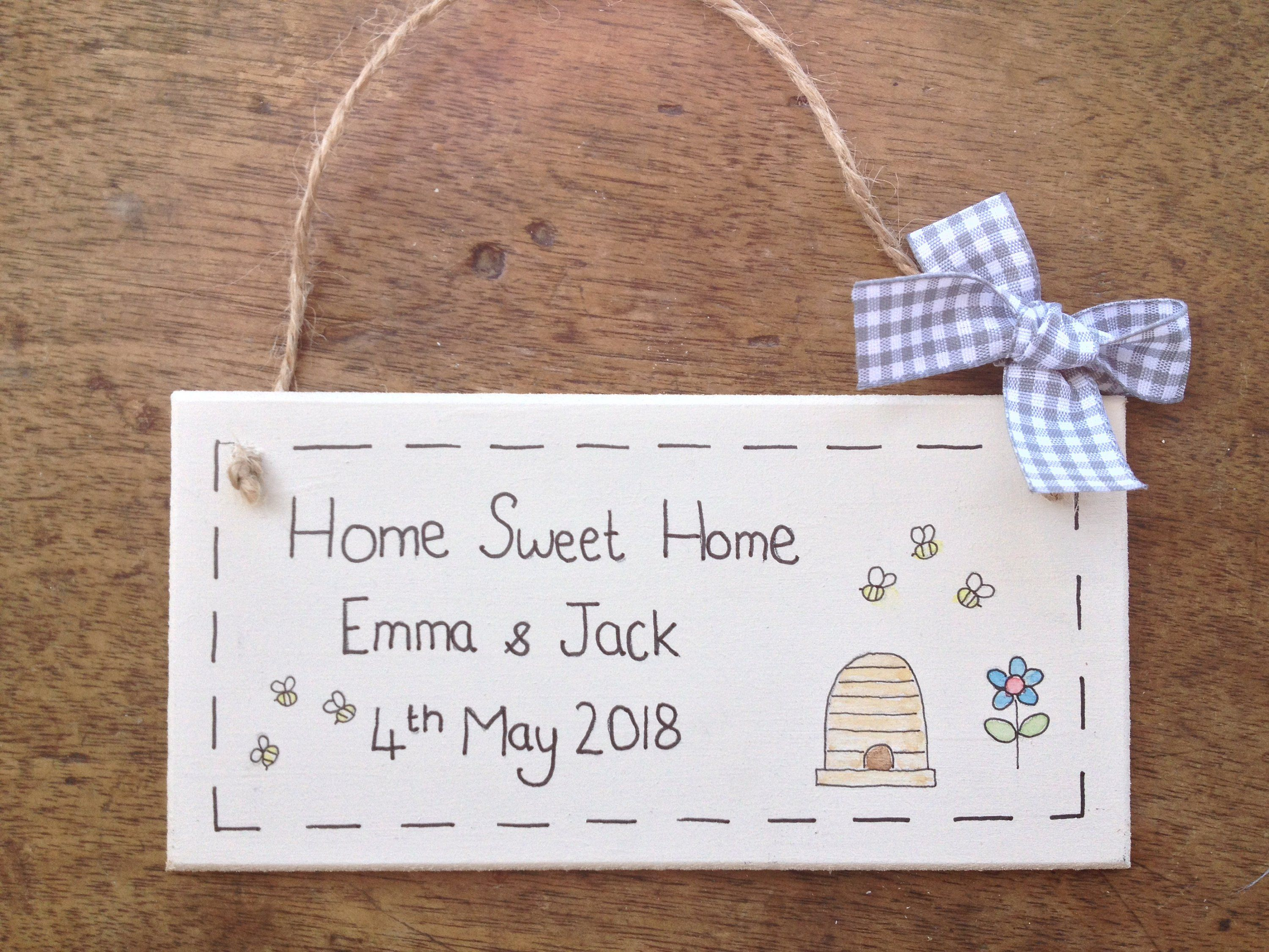 Personalised Wooden Plaque Sign For Childrens Bedroom