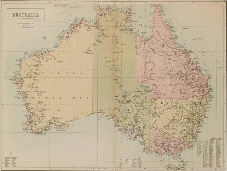 Unknown Map Of Australia By J Bartholomew Australia Map