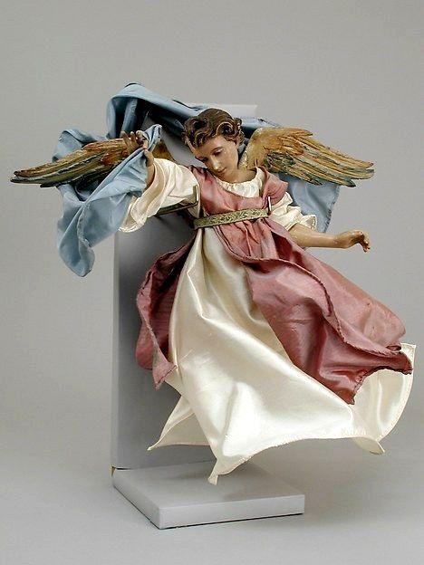 ANGELO SEC.XVIII DI A.VIVA - Metropolitan Museum New York. | Angel figure, Nativity set ...