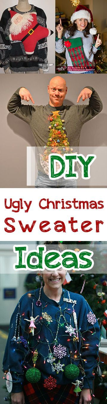 Diy ugly christmas sweater ideas these are some fabulous ideas for ugly christmas sweaters that you can make yourself solutioingenieria Gallery
