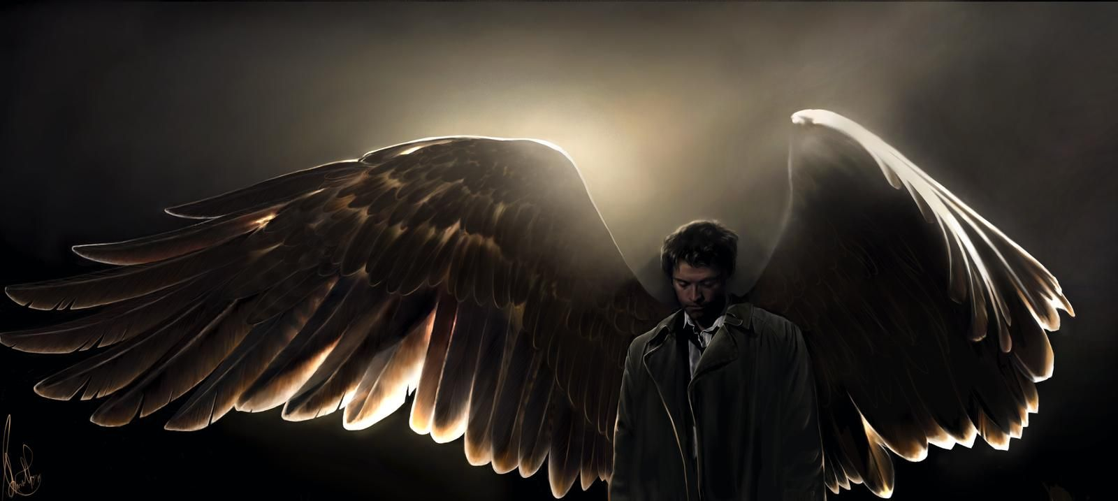 Supernatural Castiel With Wings Wallpaper - Viewing Gallery