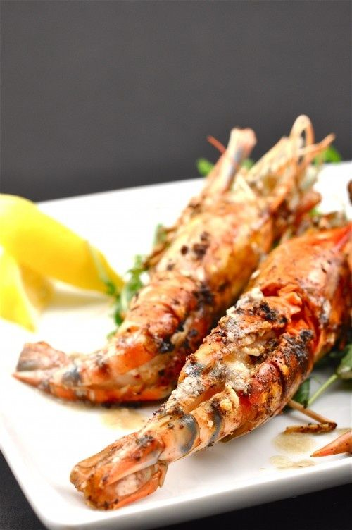 Grilled Prawns Anchovy Butter