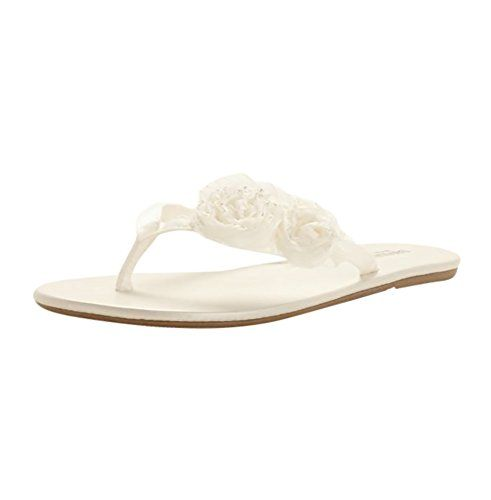 1dd08969879f This versatile and comfortable flip flop is perfect for any of your bridal  events! Zoey is also available in White as Style ZOEYW and in David s Bridal  ...