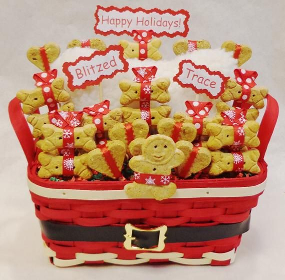 Christmas dog treat gift basket, Christmas gift for dogs, Holiday gift for dog lovers, Pet parent gift, Dog lovers Christmas present