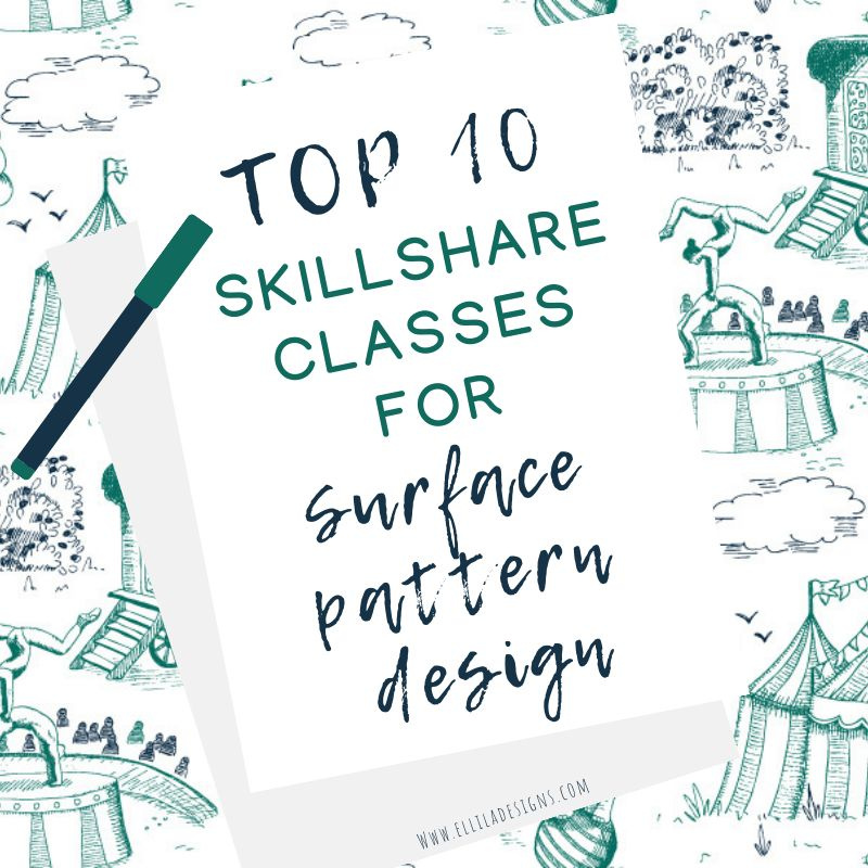 Top 10 Skillshare classes for Surface Pattern Design