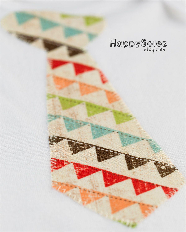 Applique Onesie - Bunting Neck Tie - 6-12 months | Costura ...