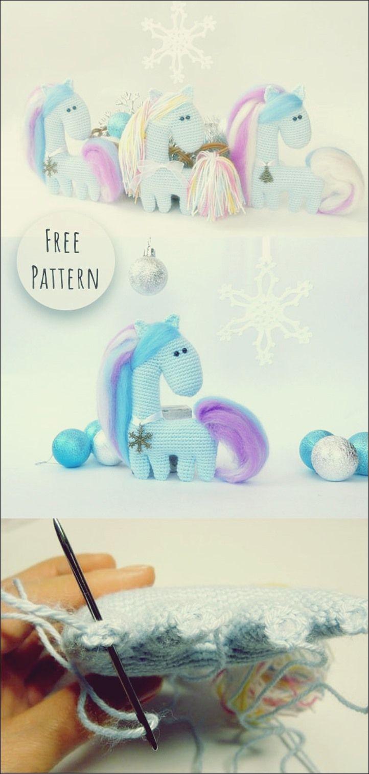schritt für schritt amigurumi unicorn horse  amigurumi x