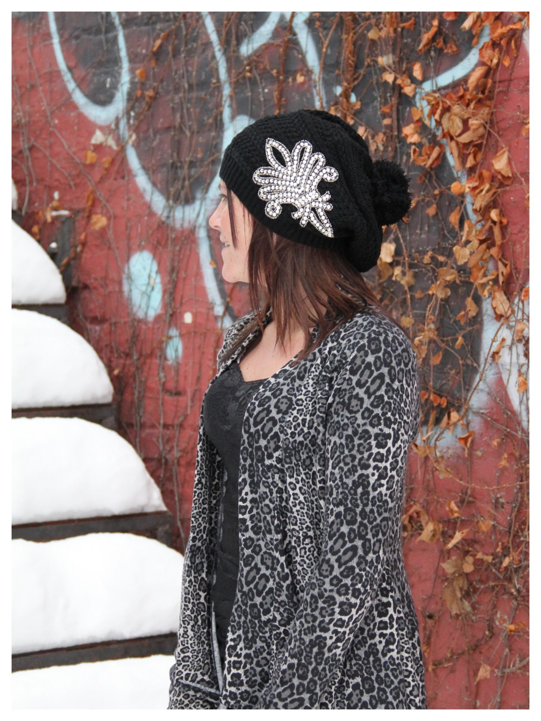 Fleur De Lis Knitted Beanie/Beret · Retail Therapy GIRLZ Boutique · Online Store Powered by Storenvy