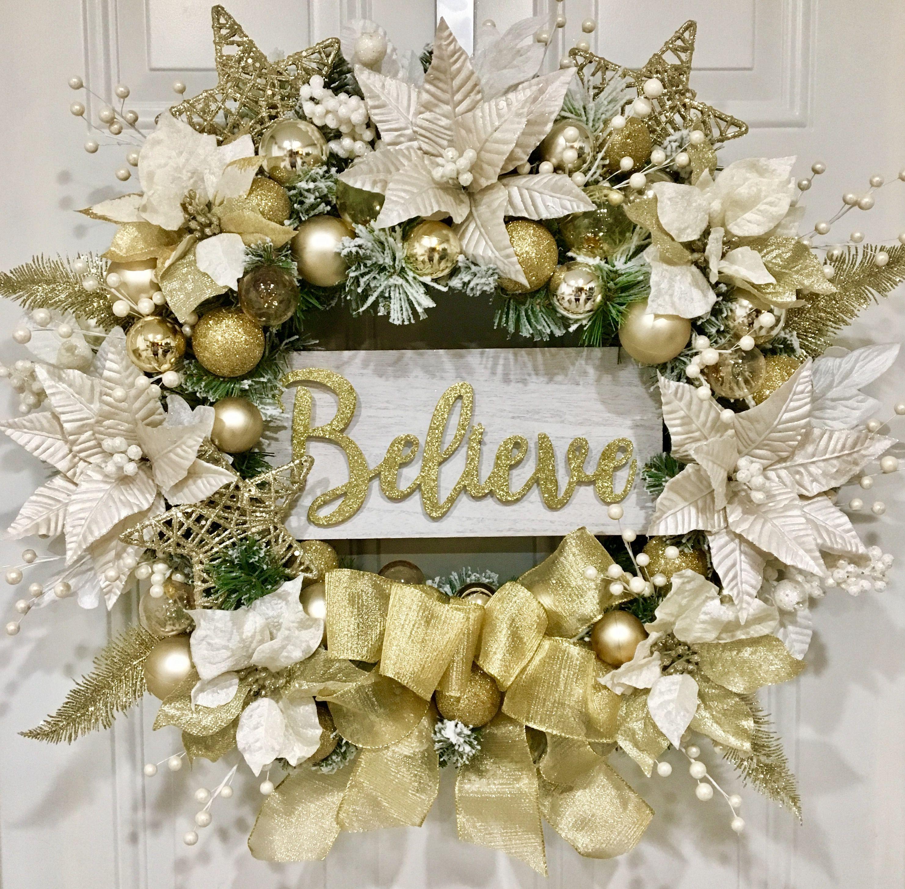 Christmas wreath front door wreath holiday wreath