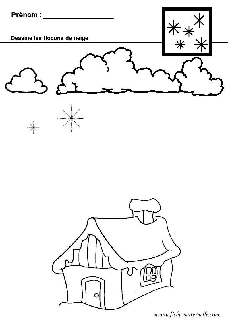 Graphisme en maternelle flocons de neige hiver pinterest maternelle flocons et flocons - Activite hiver maternelle ...