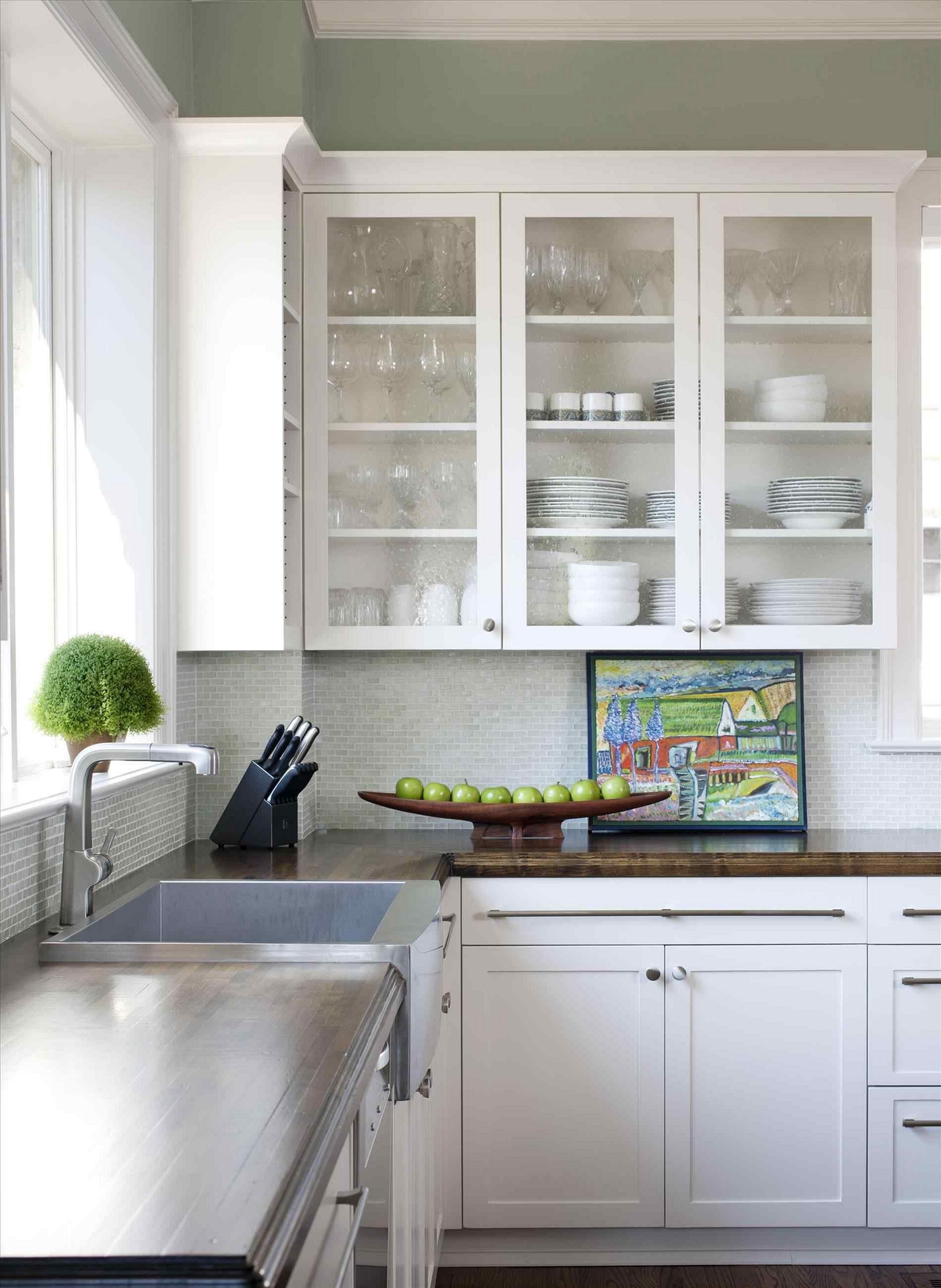 Modern Glass Kitchen Cabinets Novocom Top