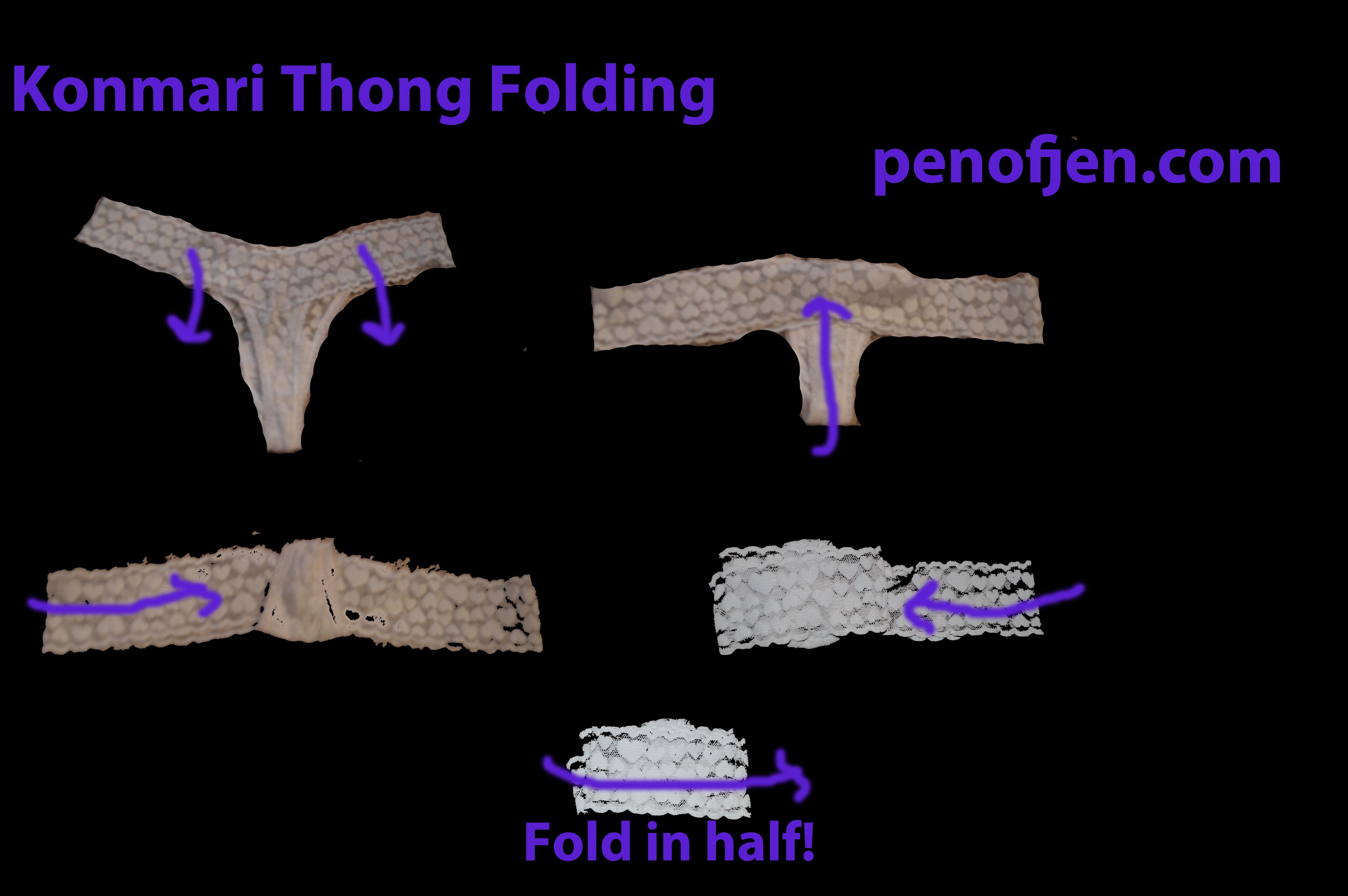 Konmari Thong Folding Kaitie Closet Fitted Sheets Diagram Organisation Organization Underwear Clothing Laundry