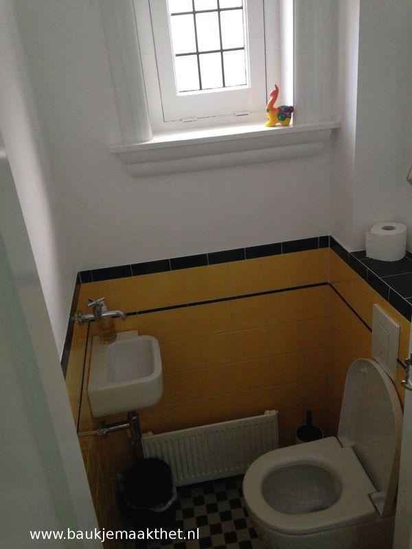 Jaren 39 30 tegels baukje maakt het badkamer pinterest tegels wc en badkamer for Deco tegel wc
