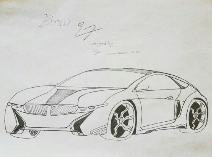 Line Drawing Car : Bmw i7 my design car designs and drawings pinterest