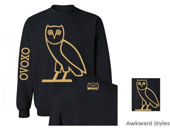67df63d6bfb Unisex OVO Drake CREWNECK gold owl ovoxo Octobers very own weekend  sweatshirt hoodie s-5xl adult unisex ,4 colors perfect gift