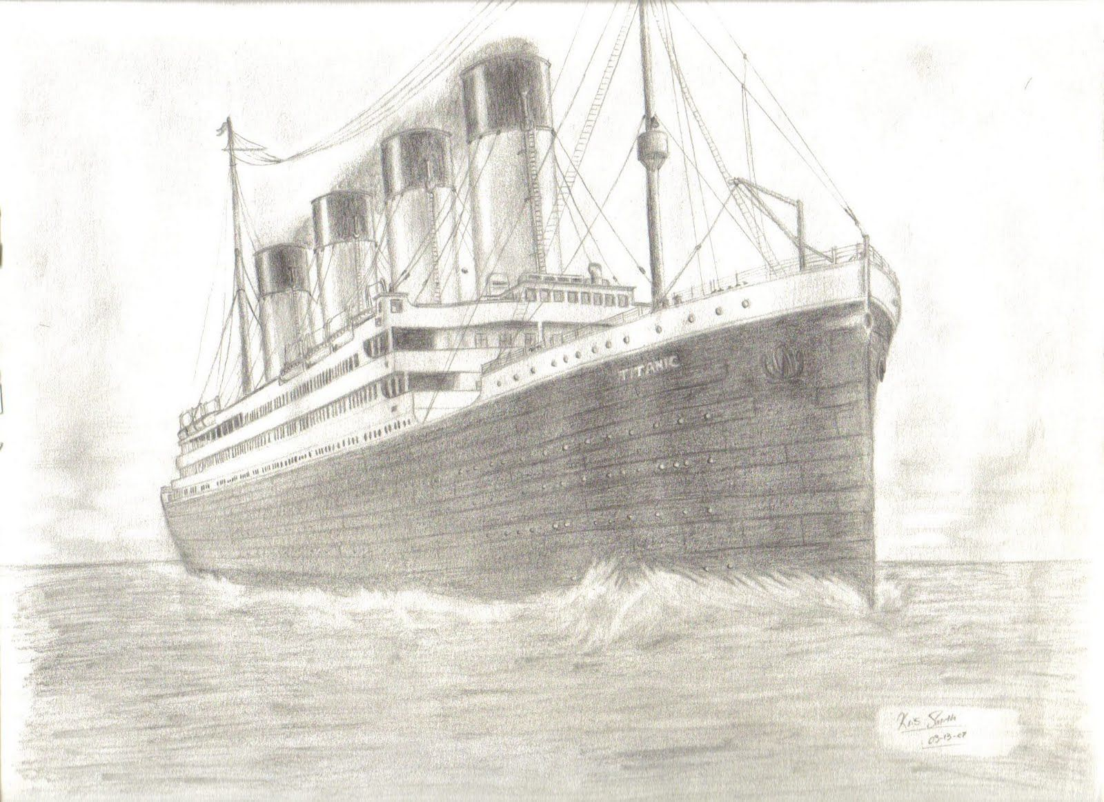 How To Draw Titanic Ship
