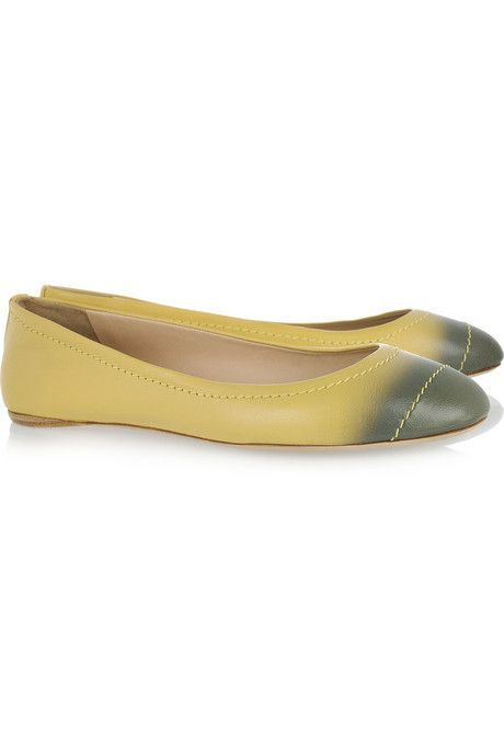 Reed Krakoff Ombre-effect leather ballet flats
