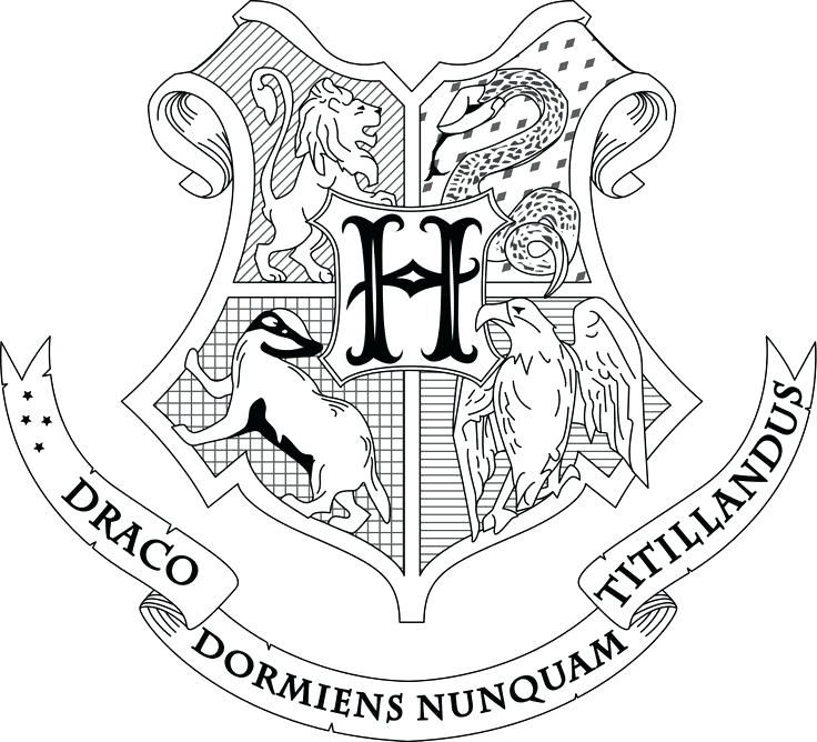 hogwarts crest coloring page best images on harry potter