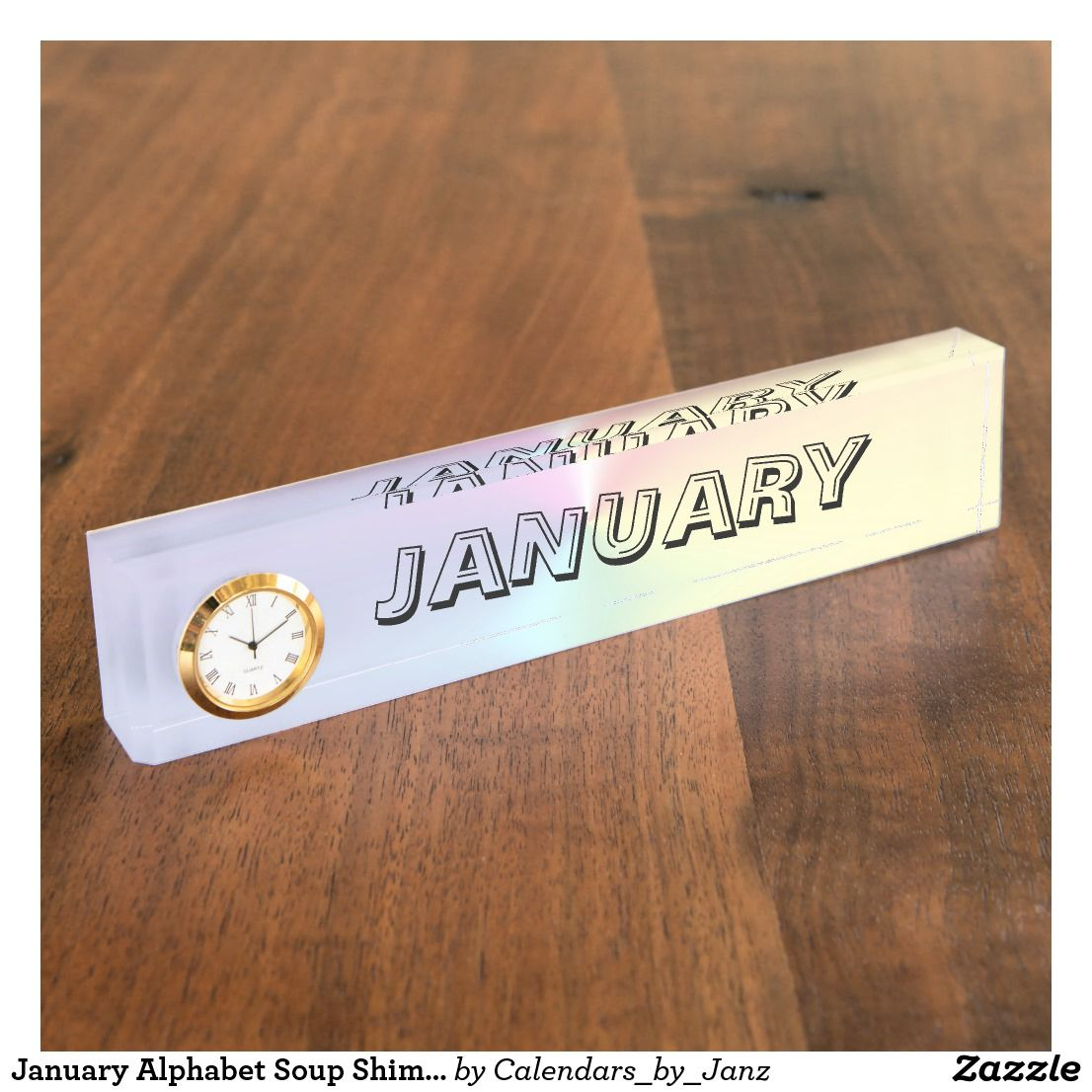 January Alphabet Soup Shimmer Paperweight By Janz Desk