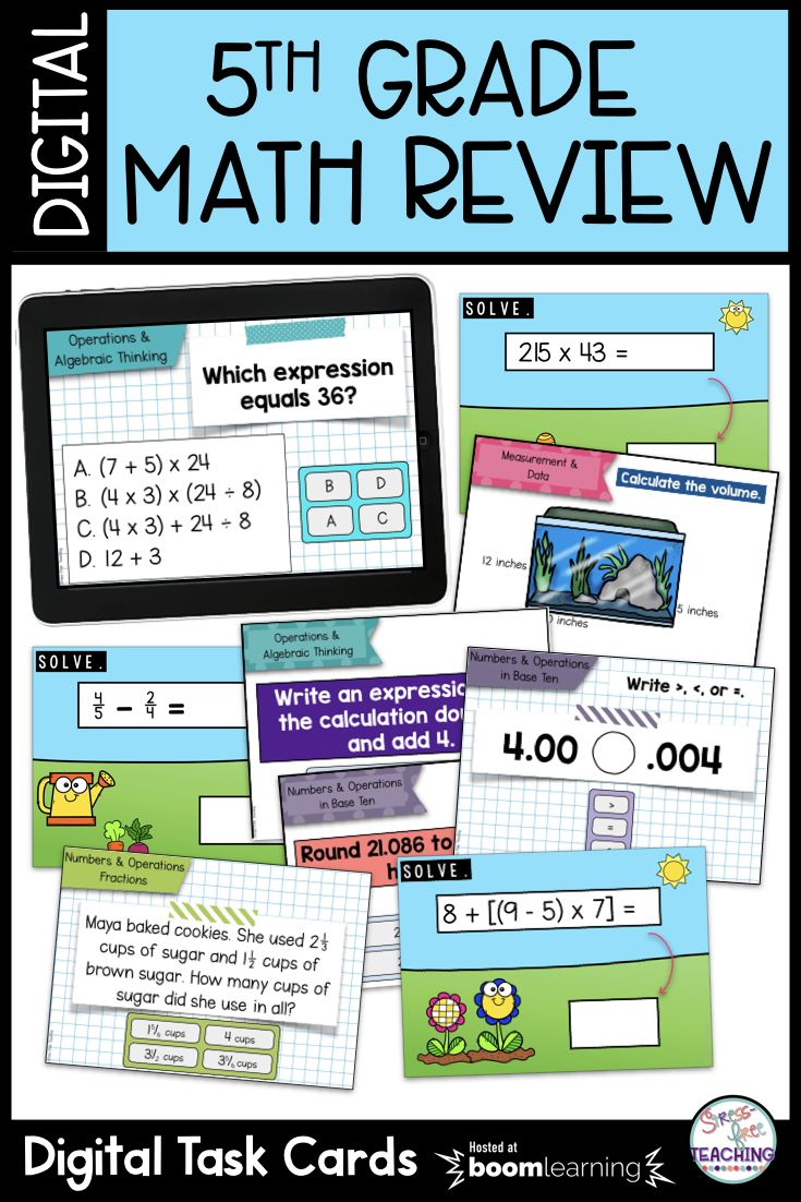 5th Grade Math Review Boom Cards Bundle | Amazing Math - Elementary ...