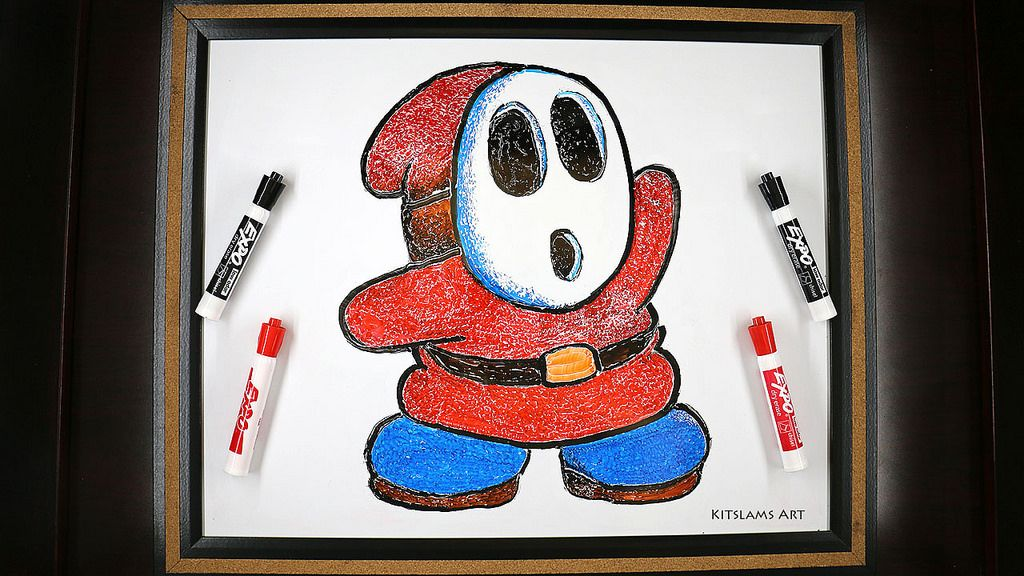 Two Hand Drawing of Shy Guy in 2020 Drawings, Marker art
