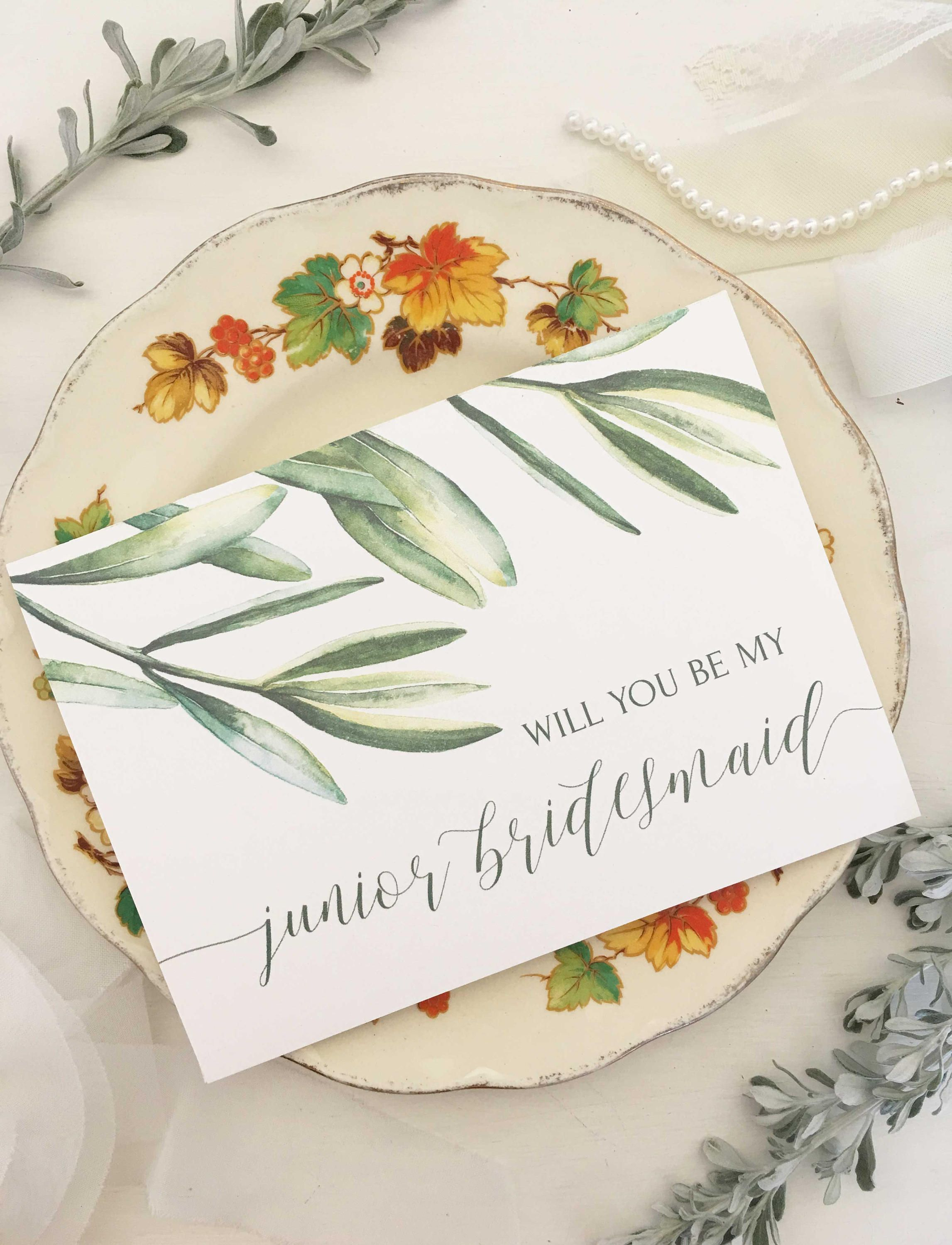 Junior Bridesmaid Ask Card Will You Be