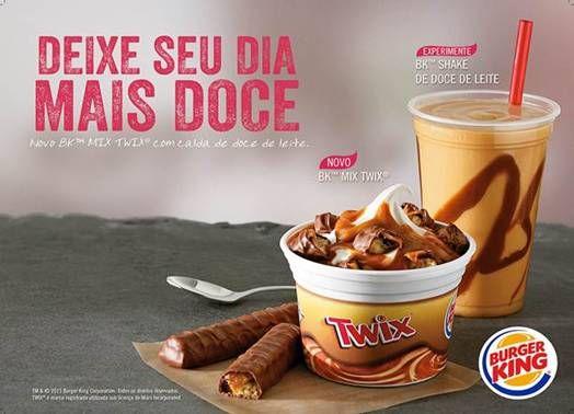 Burger King Brazil BK Mix Twix ice cream and milkshake Comida