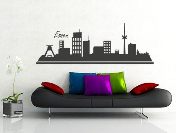 Inspirational Details zu Wandtattoo Wandsticker Skyline Essen Wandaufkleber Wohnzimmer