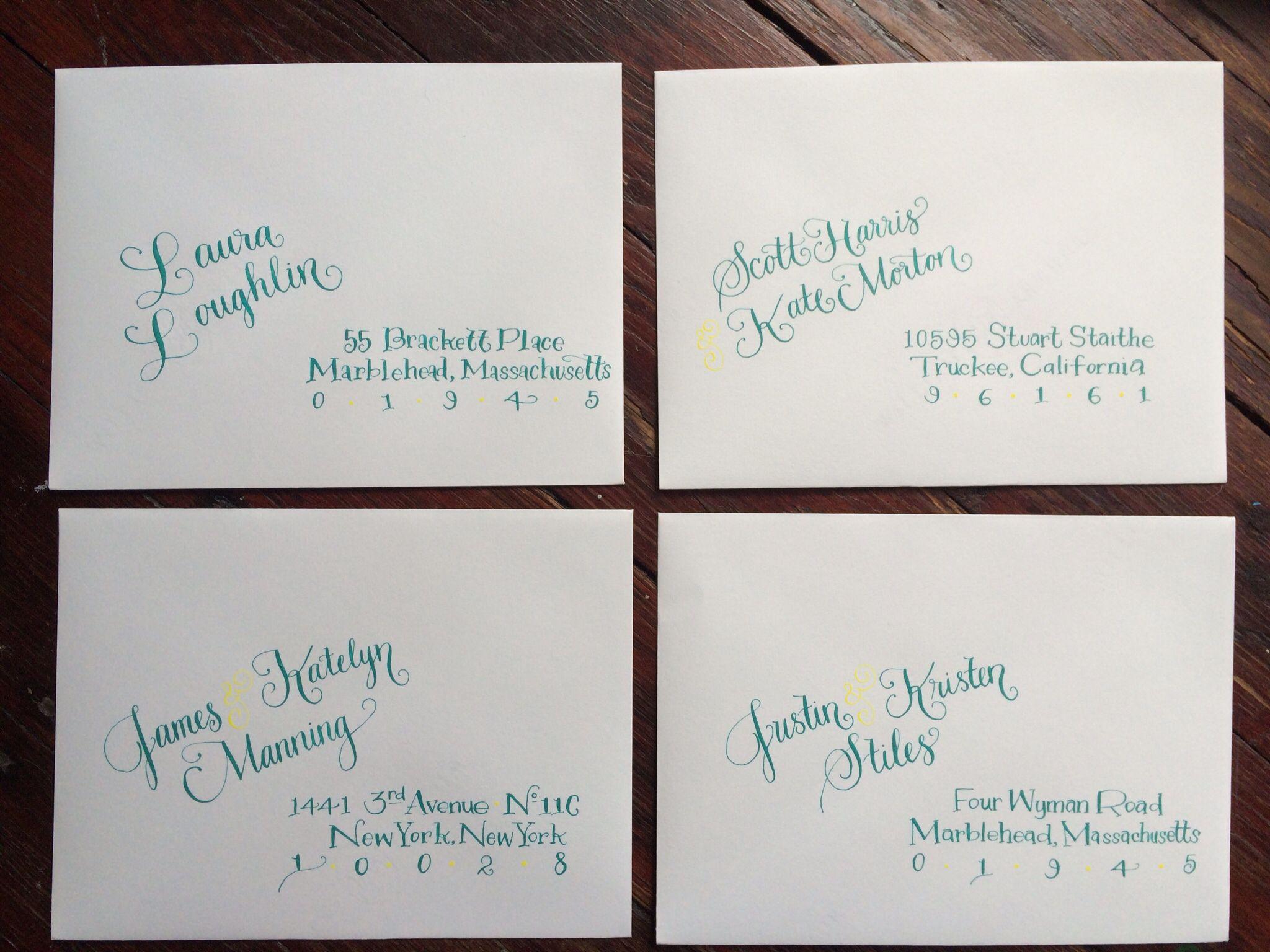 Fun Ways To Hand Address Envelopes