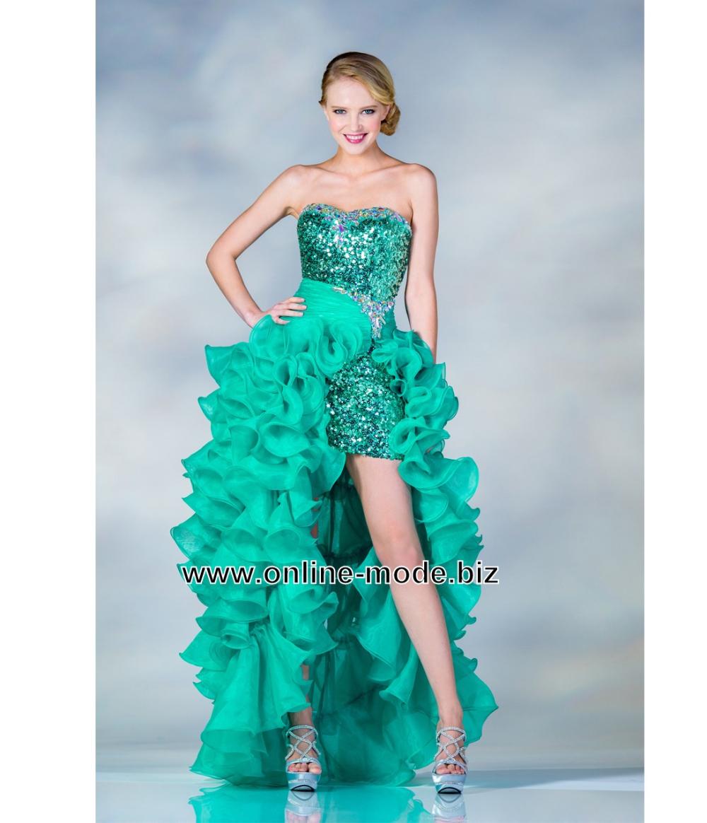 grünes vokuhila kleid abendkleid online | vokuhila kleid