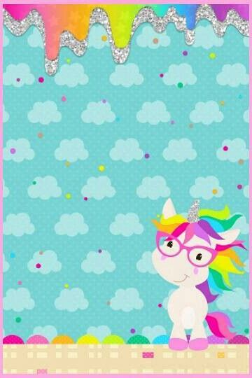 Cute Unicorn Party Birthday Wallpapers Iphone Rainbow Wallpaper Colorful