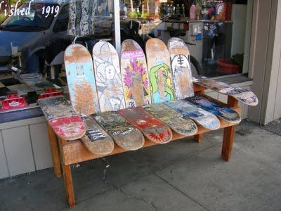 Skateboard bench - Might have to try to make this :)