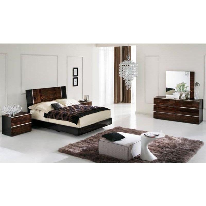 ALF Venere Italian Modern Ebony Queen Bedroom