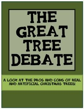 The Great Tree Debate Free Resource Transition Words Writing A