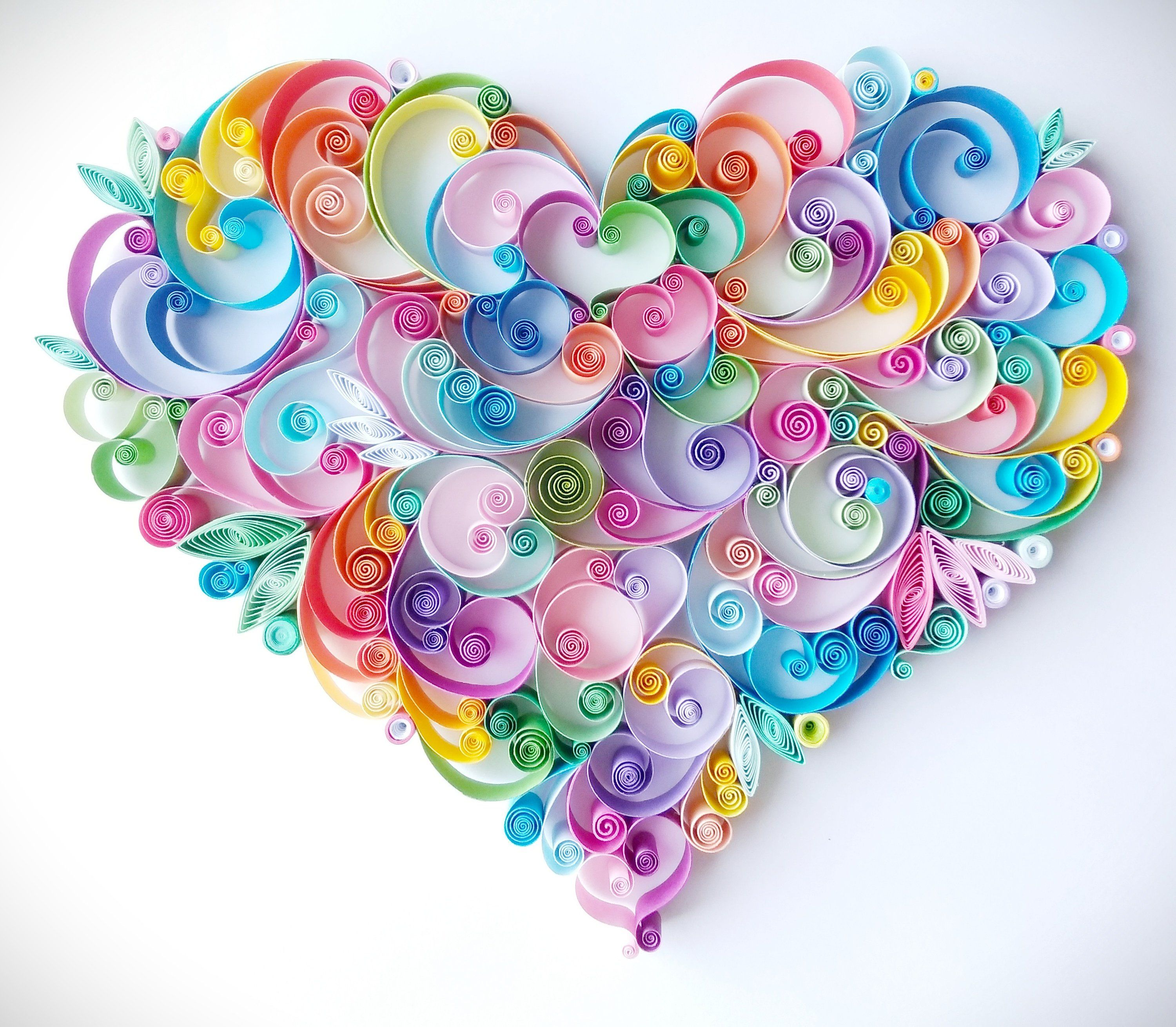 Quilling paper art design rainbow heart handmade  home decor for her him anniversary wedding wall di quillingdesign su etsy also quilled floral perfect valentine   day rh pinterest