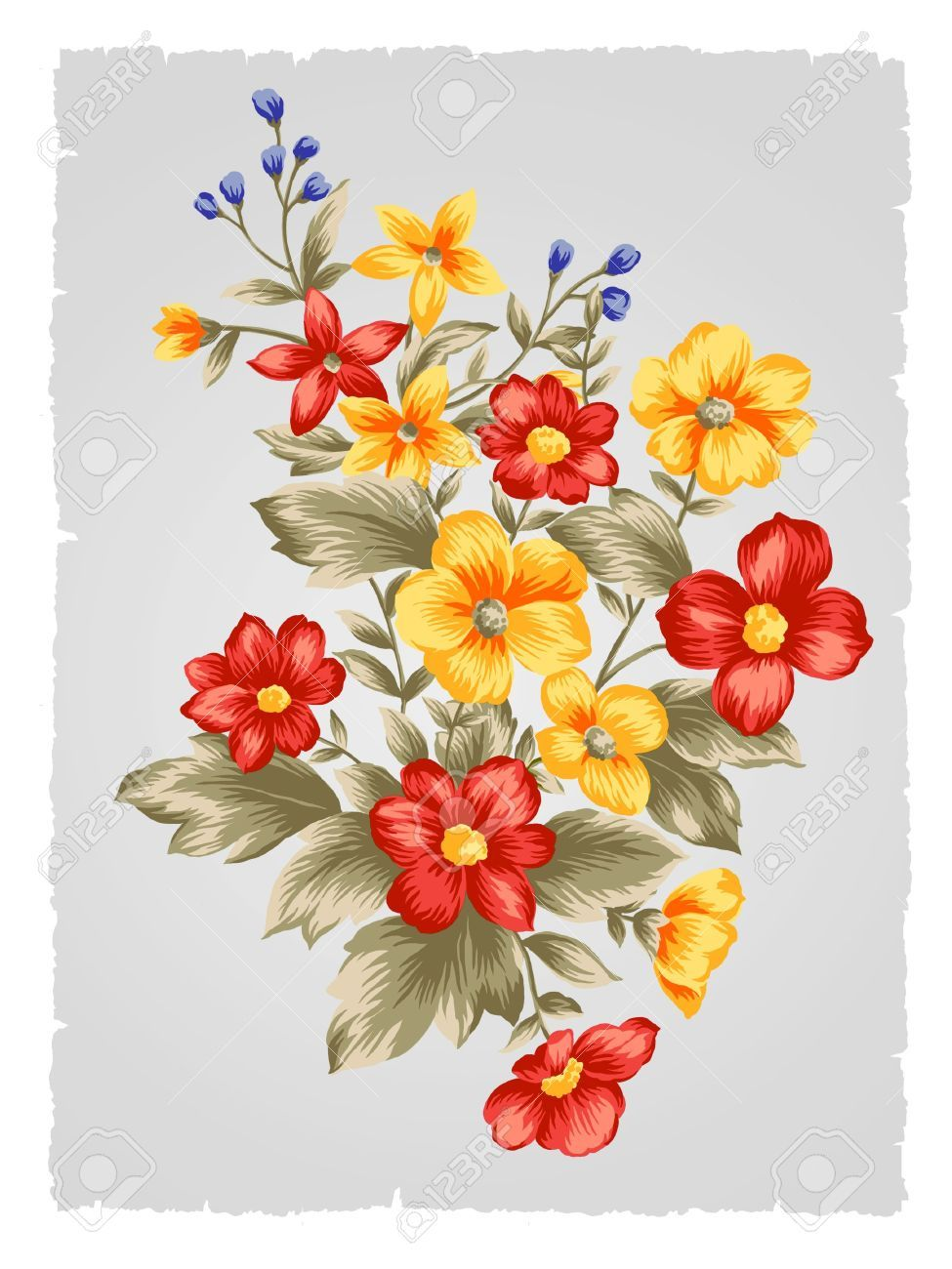 fabric painting flower patterns bunch - Google Search ...