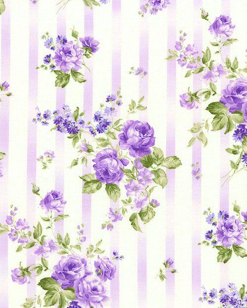 Victorian Stripe & Bouquets