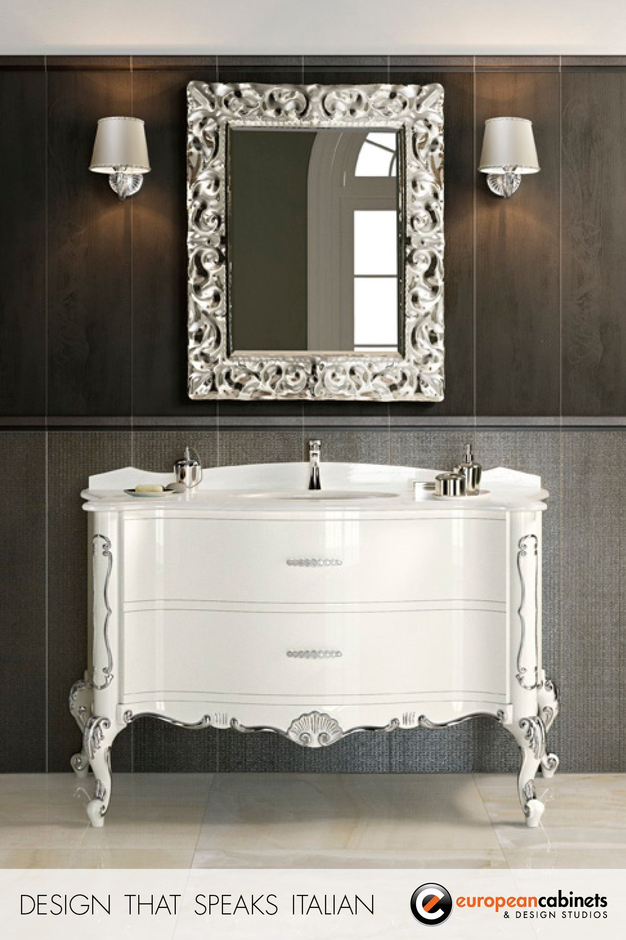 Aida by GB Group White Bathroom CabinetsWhite