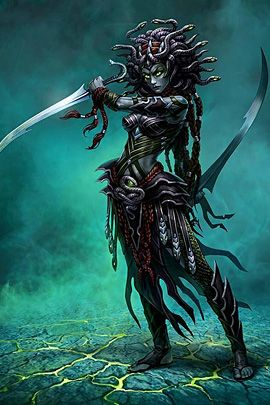 medusa warrior [by Viktor Titov]..........   I see that, and I'm running and screaming like a little girl!