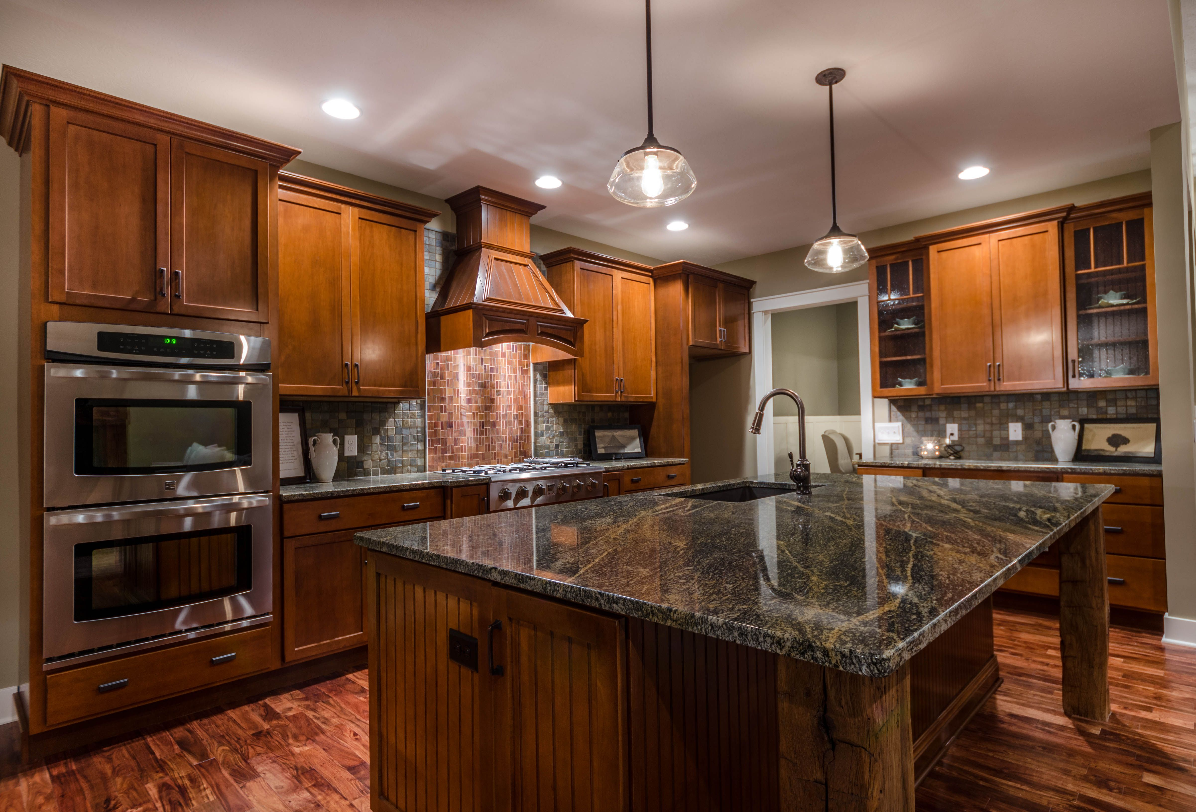 absolutely stunning kitchen opens up to a large great room and rh pinterest com