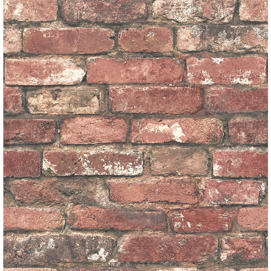 Brewster Wallcovering Brewster Essentials 56 Sq Ft Red Non Woven Brick Wallpaper Lowes Com Red Brick Wallpaper Brick Texture Brick Wallpaper