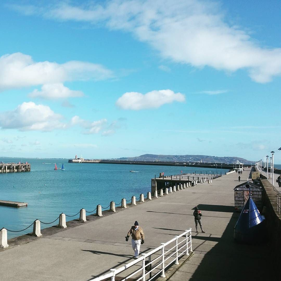 Sunny Morning At The East Pier #dunlaoghaire