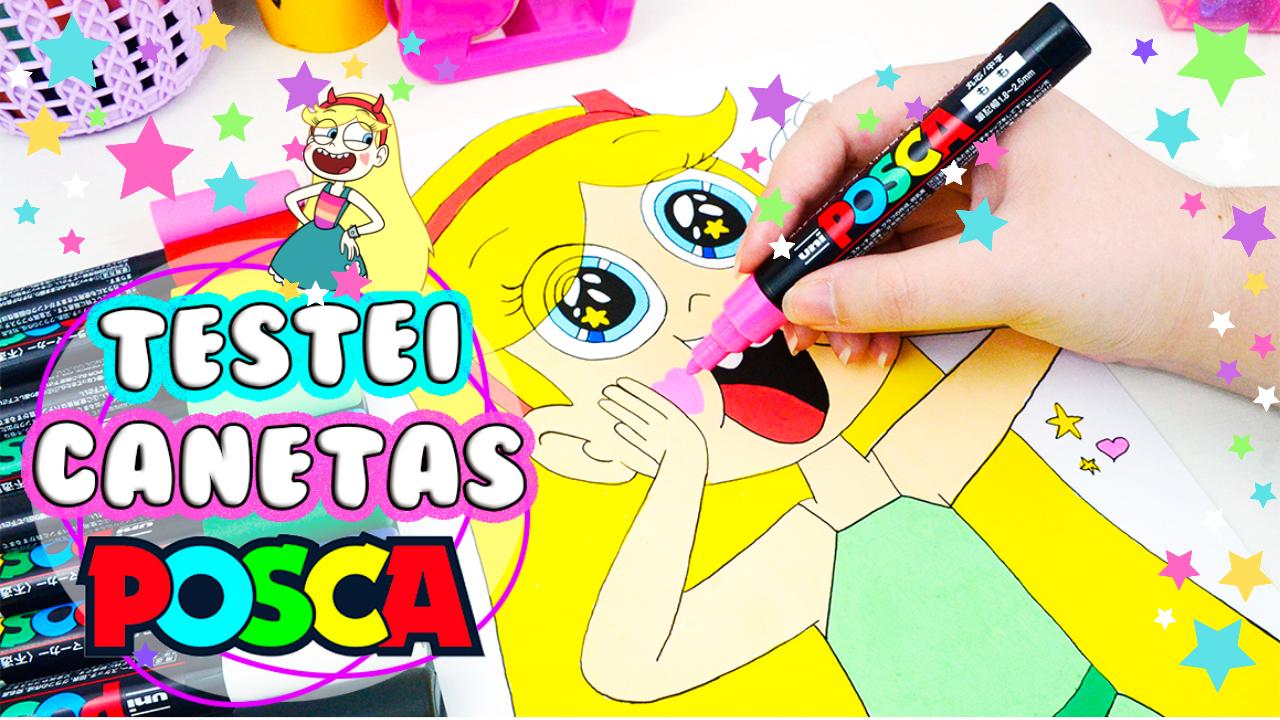 Testei Canetas POSCA Pen Test