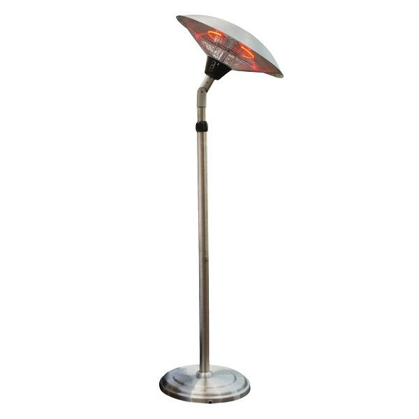 Adjustable Tall Infrared Heat Lamp Stainless Steel Electric Heater Indoor And Outdoor Use Heat Output 1500 W Heat Lamps Patio Heater Outdoor Heaters